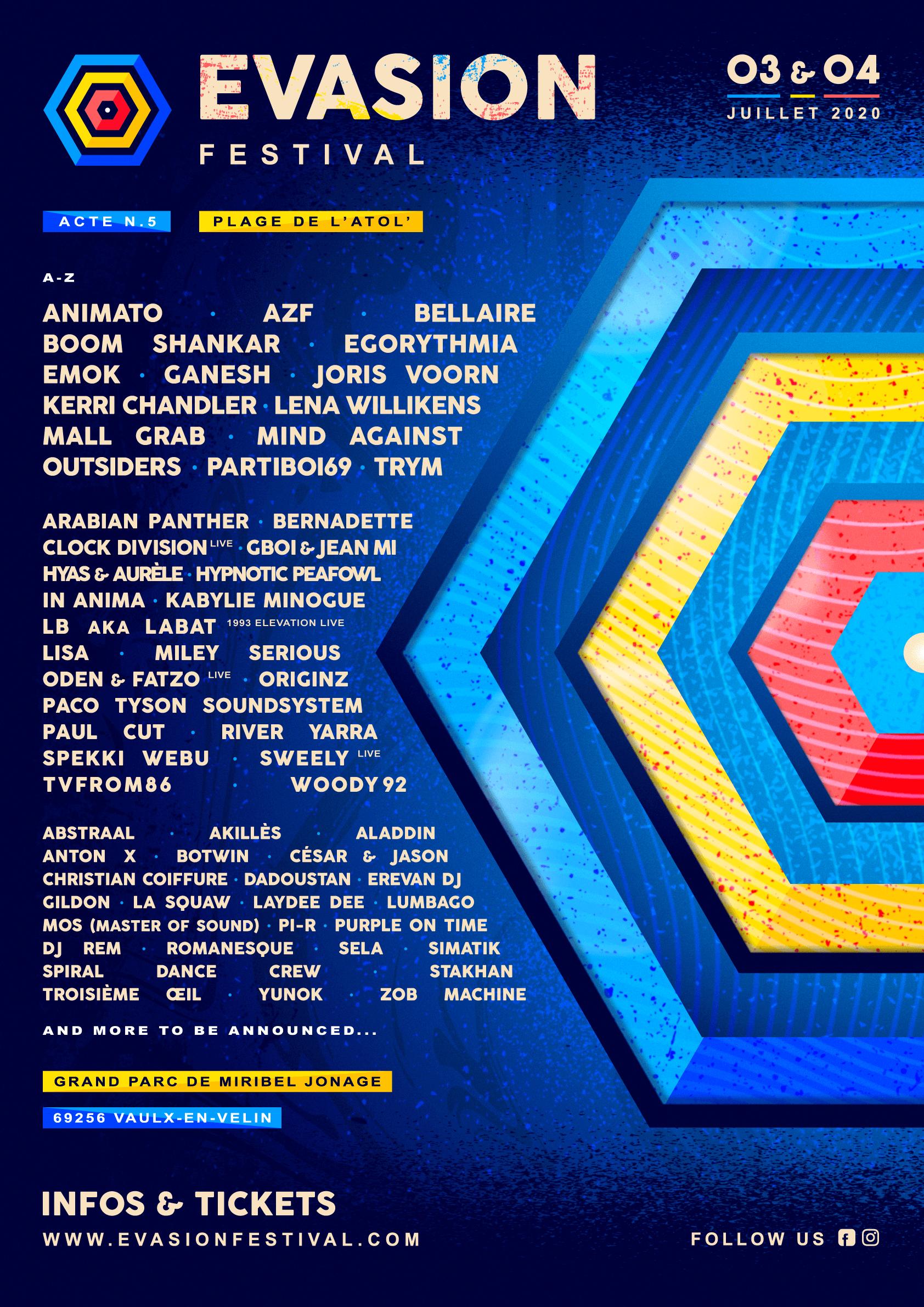 Affiche Evasion Festival 2020